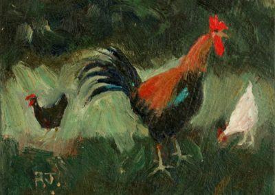 Cockerel And Hens III