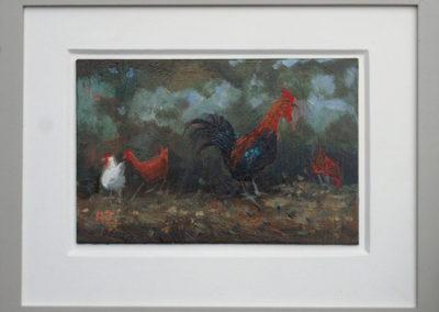 Cockerel And Hens II