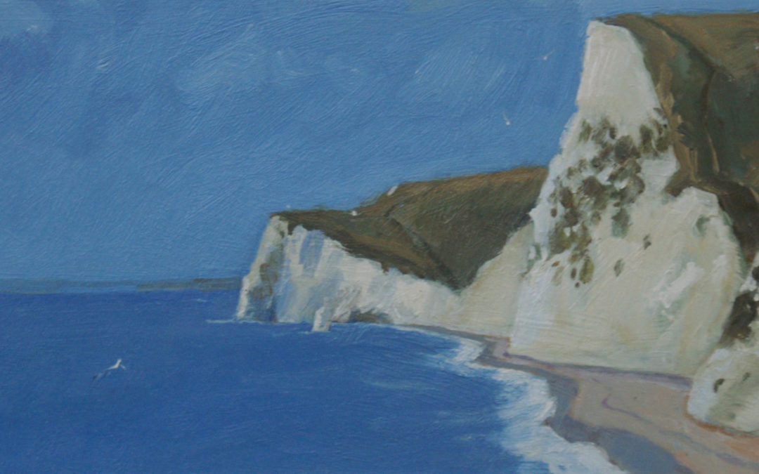Dorset, White Cliffs Towards Bat's Head