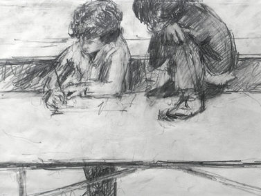 Two Boys Drawing